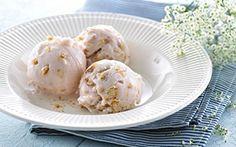 Koldskåls-is med sprødt Amerikansk-inspireret cookieis!