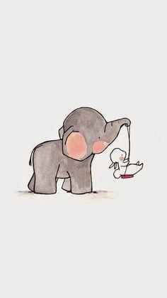 Imagem de wallpaper, background, and elephant