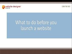 Launching a website is a very exciting thing to do. Here's our list of things to check before you launch your website