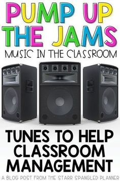 Looking for ways to incorporate music in the classroom? This post is full of great ideas for songs, playlists, and ways to integrate music into your daily teaching routines. Whether to help with classroom management and transitions, or just for fun, this has you covered! Preschool Classroom Management, Champs Classroom Management, Classroom Routines And Procedures, Class Management, Classroom Management Strategies, Grade 3 Classroom Ideas, First Grade Procedures, Themes For Classrooms, Kindergarten Routines
