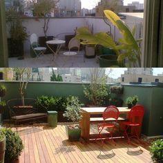 Antes e depois de uma pequena cobertura em São Paulo... @anniverdi #casaejardim #olhomágicocj #anniverdi #odilonclaro #landscape #paisagismo #projetodepaisagismo #outdoor #jardins