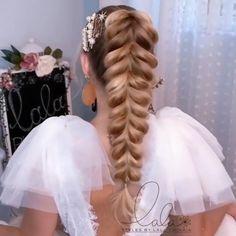 Hair Ponytail Styles, Hair Up Styles, Pretty Hairstyles, Braided Hairstyles, Easy Braid Styles, Hairdo For Long Hair, Aesthetic Hair, Hair Videos, Hair Designs