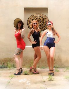 The Divas are a dream come true in their Fables by Barrie Swimsuits!
