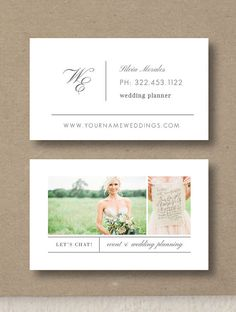 Wedding Planner Business Card Template by designbybittersweet