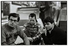 Allen Ginsberg, Kerouac, and Gregory Corso in Greenwich Village, NY, 1957.  © Bruce Davidson / Magnum Photos