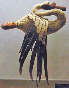 Felt swan from Pazyryk tomb