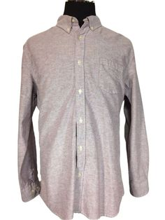 Sonoma Life Style XL Mens Casual Shirt Lavender Button Down Long Sleeve Cotton #Sonoma #ButtonFront