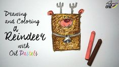 How to draw a Reindeer with Oil Pastels for Kids ☛ Drawing a rectangle to draw a Reindeer. Art is so simple for Kids!