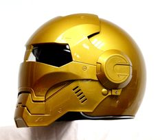 Masei Gold Atomic-Man 610 Open Face Motorcycle Helmet Free Shipping for Harley Davidson