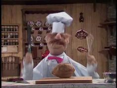The Muppet Show: The Swedish Chef - Coconut Open A Coconut, Dancing In The Kitchen, Swedish Chef, Face The Music, The Muppet Show, Super Funny Memes, Gifs, Jim Henson, Kermit