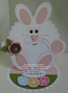 Stampin' Up!  Punch Art  Teresa Giordano  Easter Bunny  Scallop Circle
