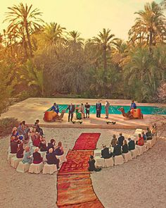Guests (and camels) gather for this intimate wedding in Marrakech