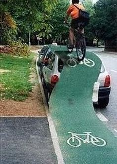 Stay in the bike lane: