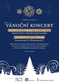 Padesátičlenný olomoucký pěvecký sbor Chermon vás zve na (před)vánoční koncert, kde zazní moderní úpravy známých
