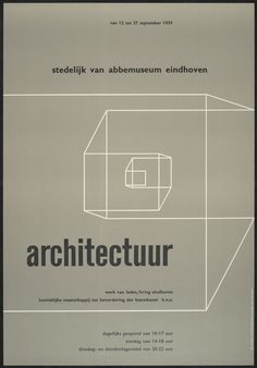 Wim Crouwel - selected graphic designs and prints from museum archive