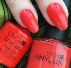 Mambo Beat shellac and Vinylux from the CND Rhythm & Heat Collection by Fee Wallace