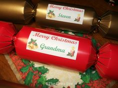 Home made Christmas crackers can be much more personal than store bought ones!
