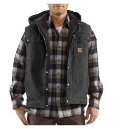 Carhartt Men's Sandstone Hooded Multi-Pocket Vest