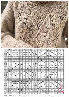 Knitting Stiches, Crochet Stitches Patterns, Knitting Charts, Sweater Knitting Patterns, Knitting Designs, Hand Knitting, Knit Crochet, Accessories, Spiral Crochet