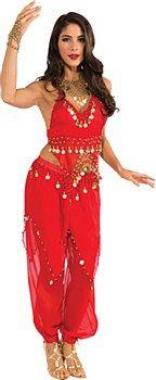 Belly Dancer Red Harem Girl Adult Costume