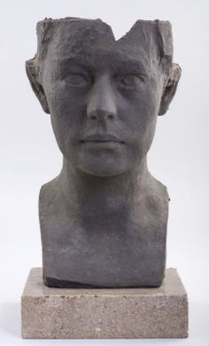 Georg Kolbe (Germany 1877-1947), Porträtmaske Mechthilde Lichnowsky, clay(?), 1909-16. In 1909 Kolbe was invited to Castle Graetz in Silesia to portray the royal couple Max Karl and Mechtilde von Lichnowsky. Kolbe's decision to abruptly end the top of the bust may reflect Mechtilde von Lichnowsky's trip to Egypt and her interest in Egyptian portrait heads. Collection Georg Kolbe Museum, Berlin.