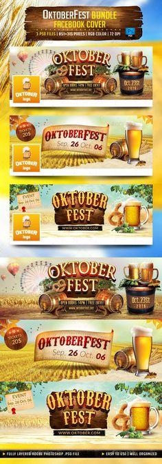 OktoberFest Bundle Facebook Cover Template #design #social Download: http://graphicriver.net/item/oktoberfest-bundle-facebook-cover/12811379?ref=ksioks