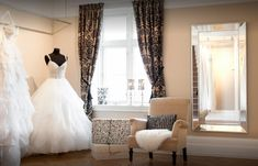 The beautiful Northern Star Salon at our Bergen Boutique Beautiful Villas, Bergen, Salons, Boutique, Stars, Wedding Dresses, Fashion, Bride Dresses, Moda