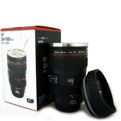 New Coffee Lens Emulation Camera Mug Cup Beer Cup Wine Cup With Lid Black Plastic Cup&Caniam Logo Mugs tazas cafe