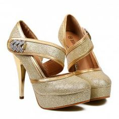 $17.07 Party Women's Pumps With Sparking Glitter and Rhinestones Design