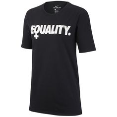 Women's Nike Sportswear Equality T-Shirt ($30) ❤ liked on Polyvore featuring tops, t-shirts, black and nike