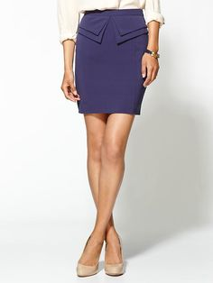 mini peplum pencil skirt