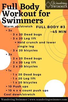 Dry Land Swim Workouts, Workouts For Swimmers, Swimming Exercises, Upper Body Hiit Workouts, Summer Body Workouts, Body Workout At Home, Gym Workout For Beginners, Easy Workouts, Swimmers Workout Dryland