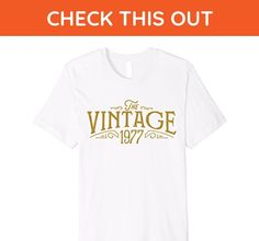 Mens The Vintage 1977 40th Birthday Gift T-Shirt 2XL White - Birthday shirts (*Amazon Partner-Link)