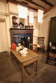 The kitchen in the Bronte Parsonage Museum in Haworth, England.