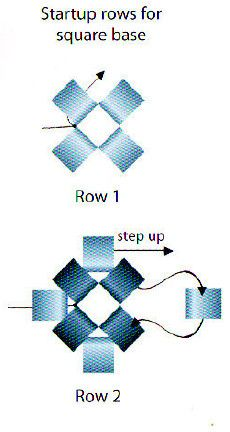 Basic tuto for starting beaded box ~ Seed Bead Tutorials Seed Bead Crafts, Seed Bead Projects, Seed Bead Jewelry, Seed Beads, Beaded Flowers Patterns, Beaded Jewelry Patterns, Beading Patterns, Beading Techniques, Beading Tutorials