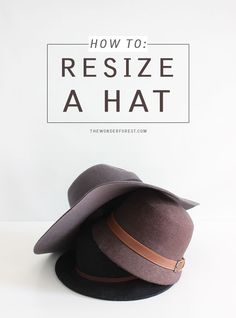 I've purchased lots of hats online and it's always a disappointment when they arrive and are too large for my head. I'm sure others can relate! The last thing you want is your hat to fall off or blow away in the wind when you're out and about. Luckily, there is a really (stupidly) simple fix for thi