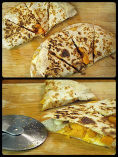 Yup, another recipe from THE BOOK (Moosewood Restaurant Cooks at Home) as my kids would say. What a great way to be different with a quesadilla…add some fun…be creative….add some…
