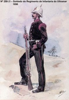 Infantry Soldier from the Portuguese Colonial Troops - Portugal 1890