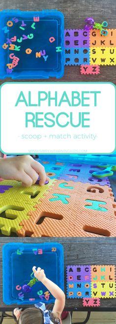 Alphabet Rescue - Low Cost, No Prep Letter Recognition Activity!