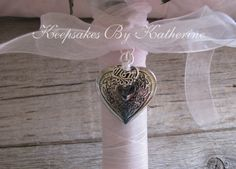 Mom Heart Bridal Bouquet locket by Keepsakes By Katherine