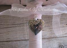 Mom Heart Bridal Bouquet locket by Keepsakes By Katherine