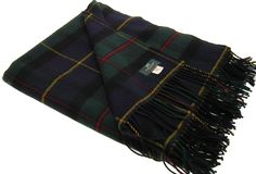MacLeod of Harris Modern Tartan Lambswool Blanket