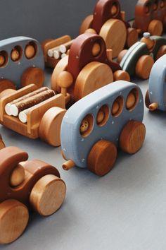 Handmade wooden toys, wooden bus