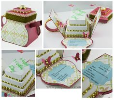 Jinky's Crafts & Designs: Mother's Day Teapot Exploding Box - has tutorials/templates for purchase