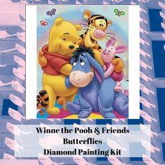UK Winnie Piglet Tigger Full Drill Diamond Painting Embroidery Cross Stitch QW