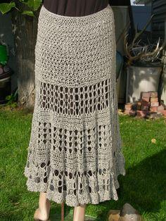 Easy V Stitch Crochet Skirt Pattern by HipKittyDesigns on Etsy