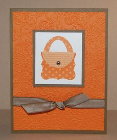 Curly Label Punch Art Purse - oval punch for handle or ribbon would be cute
