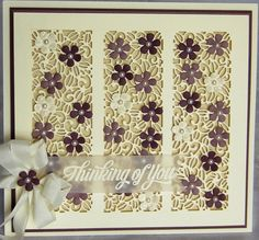 PartiCraft (Participate In Craft): Thinking Of You7 3/4 x 8 1/4 Floral Meadow Striplet