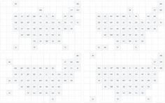 Grid map variations by Nathan Yau #datavis #visualization