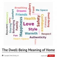 The Dwell-Being Meaning of Home.  What's most important to you? www.dwell-being.co.uk